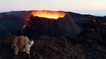 Piton actif dans le cratère Dolomieu