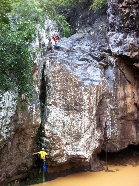 Canyon ravine Fontaine St Leu